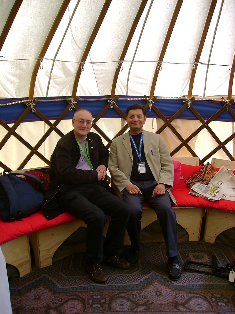 Guest in Writers Yurt