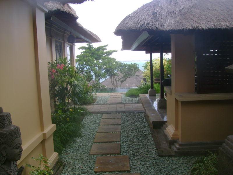 Path inside villa