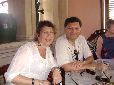 With Annie Gastin