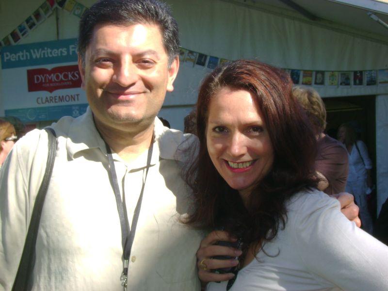 Imran with Janet DeNeefe