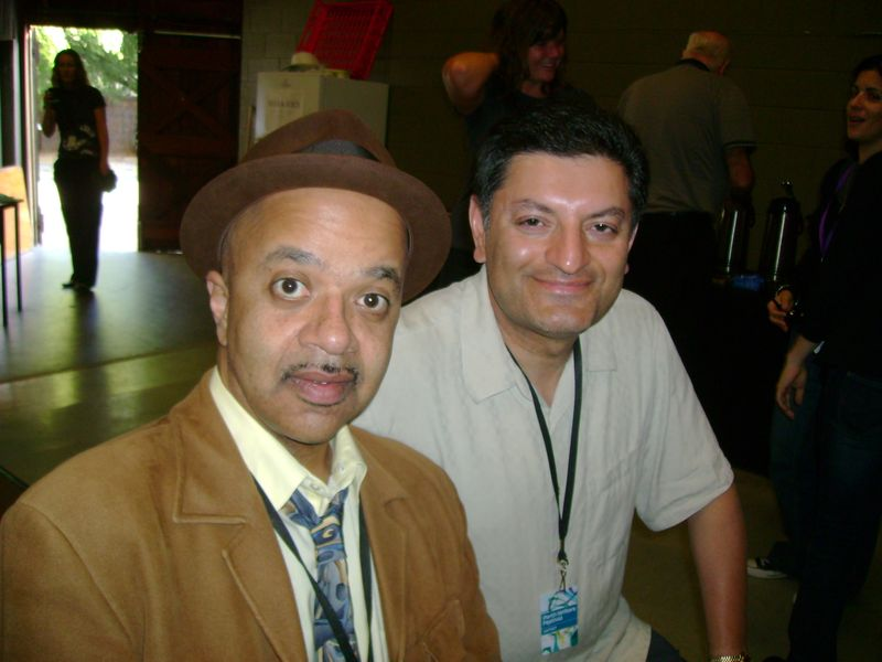 Imran with James McBride