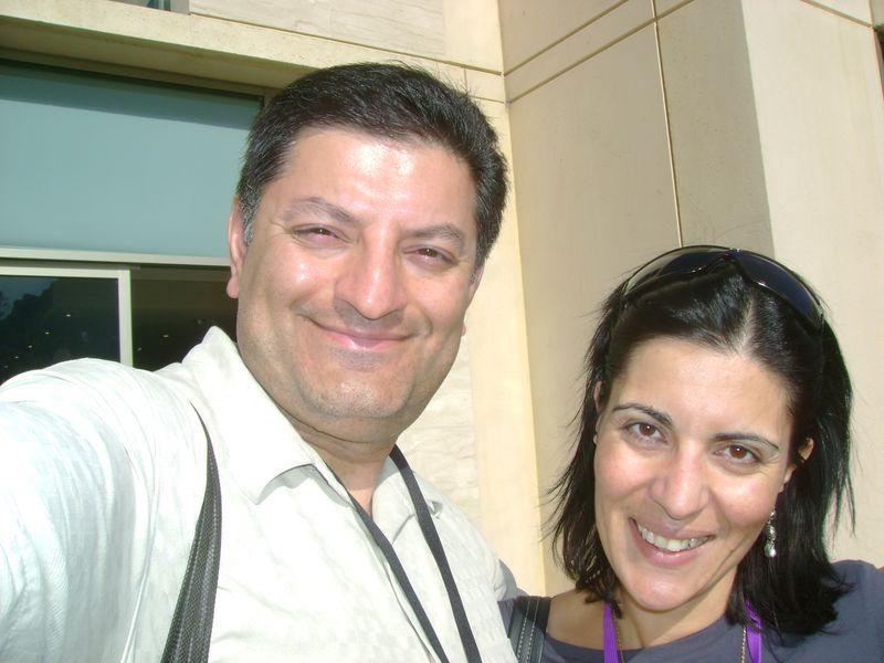 Imran with Rania Ghandour