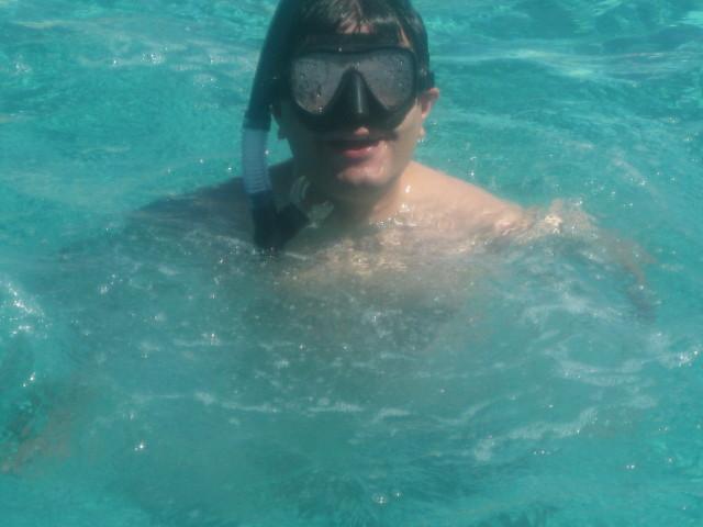 Imran in water