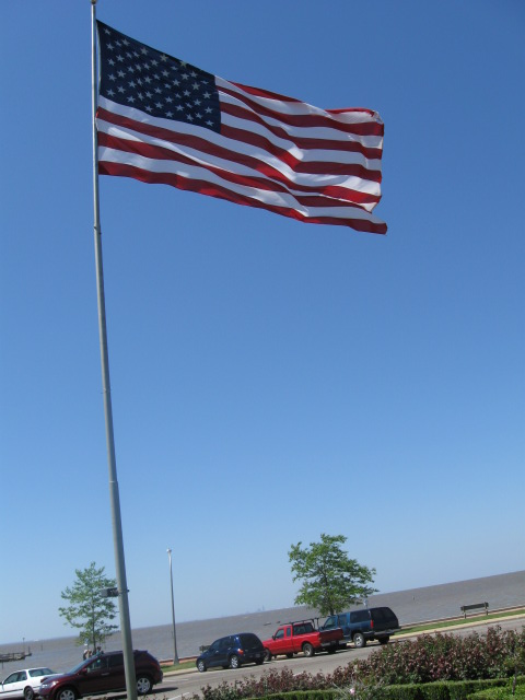 US flag at Fairhope