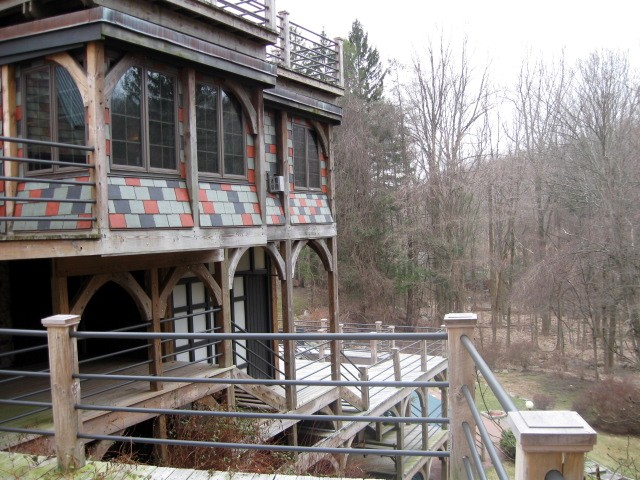View of CT house - many decks