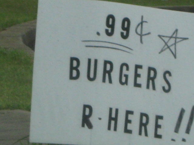 Tempting cheap burgers
