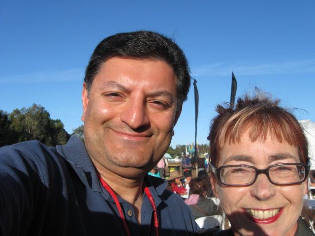 Imran with Jeni Caffin