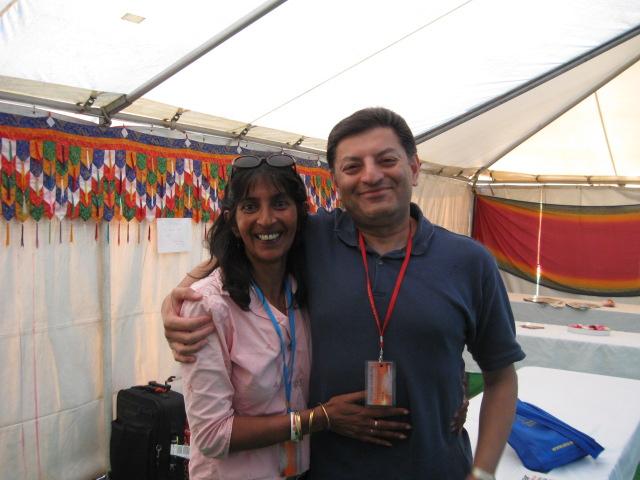With Sandy Ghandi