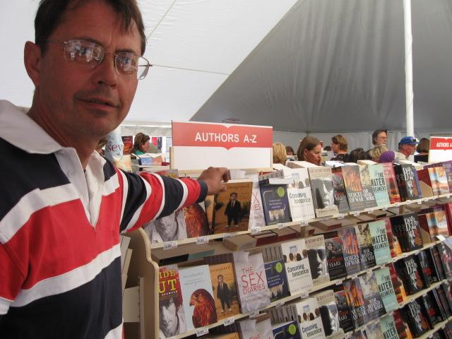 A chap randomly picking up my book