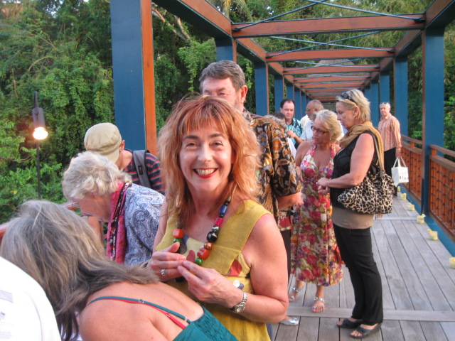 Jeni Caffin arriving at reception