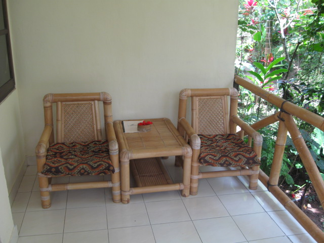 Seats outside cottage