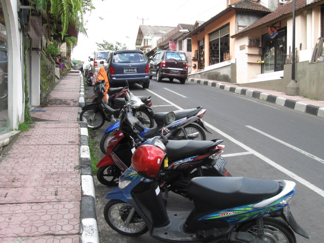 Scooters in Ubud