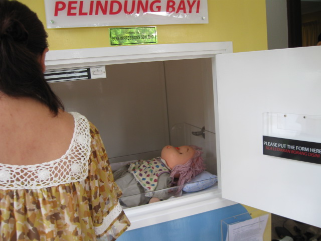 Baby placed in hatch