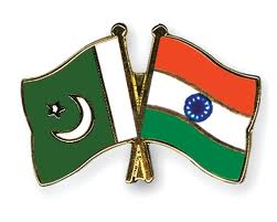 India - Pakistan flags